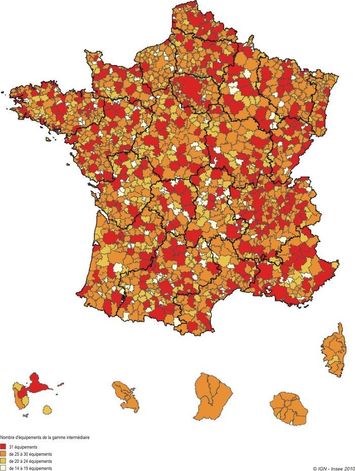 Souvent Le nouveau zonage en bassins de vie de 2012 - Insee Première - 1425 BB35