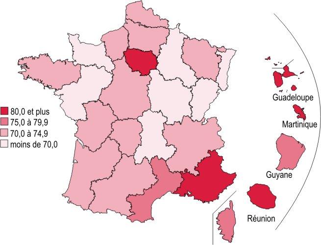 Une Cartographie De L Emploi Regional D Apres Le Recensement De La