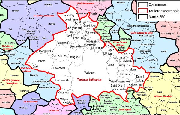Carte Toulouse Et Environs   imvt