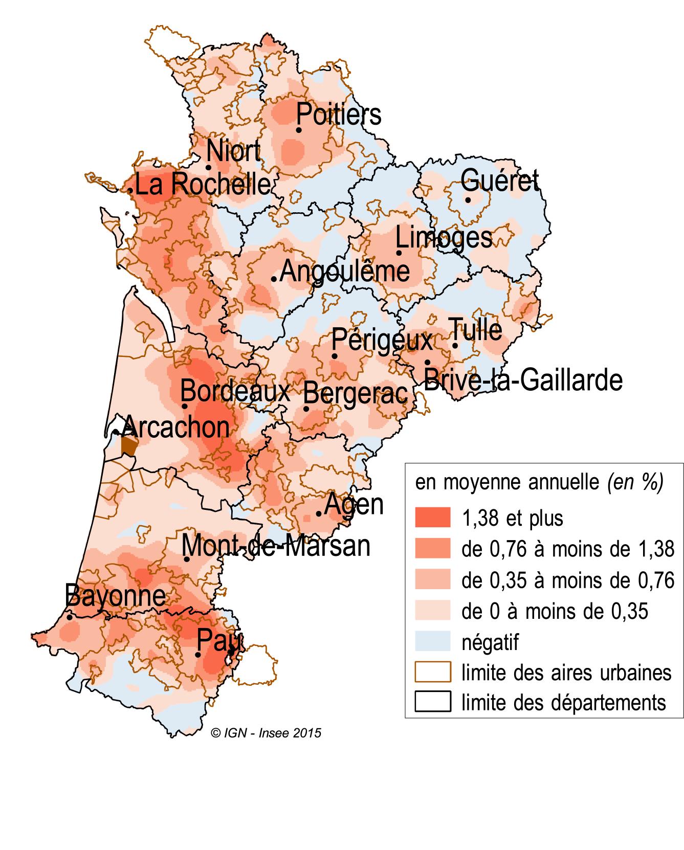 Carte Nouvelle Aquitaine Villes.5 844 177 Habitants En Aquitaine Limousin Poitou Charentes