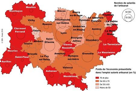 Auvergne rh ne alpes premi re r gion de france dans l artisanat de fabrication insee - Cabinet de recrutement rhone alpes ...