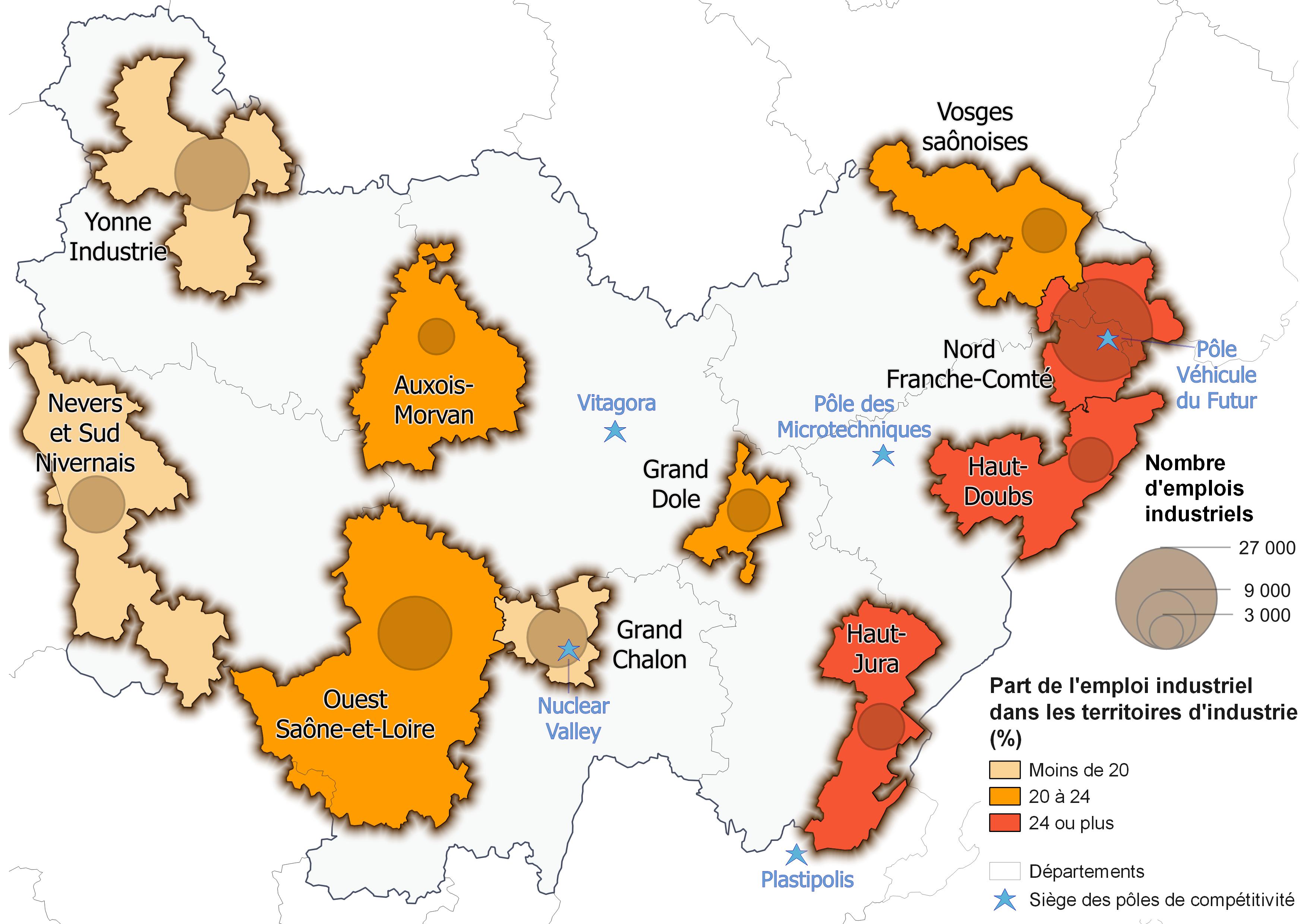 Le Constructeur De Bourgogne grande région industrielle, la bourgogne-franche-comté